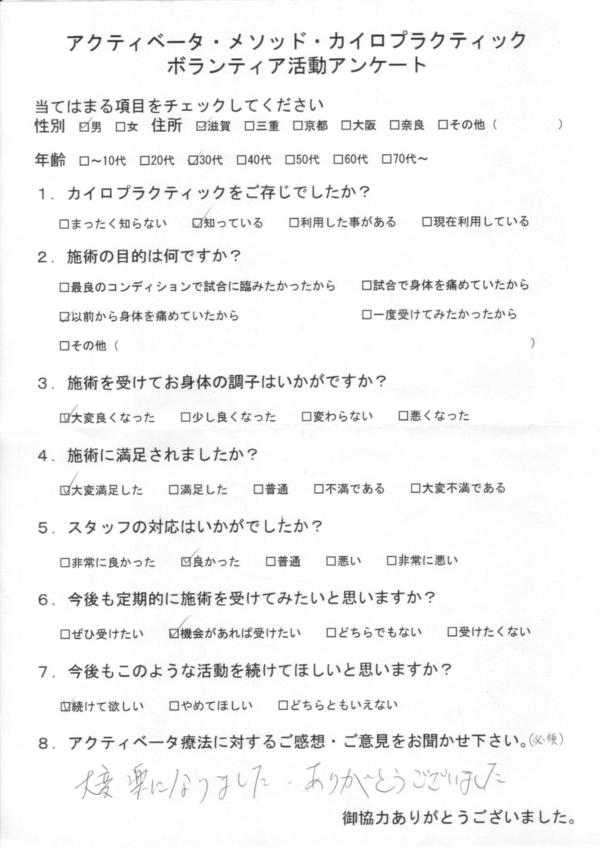 滋賀県30代男性
