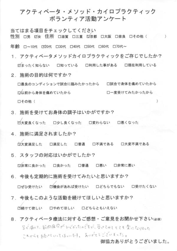 京都府20代女性