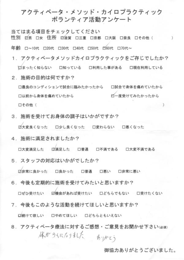 滋賀県60代男性