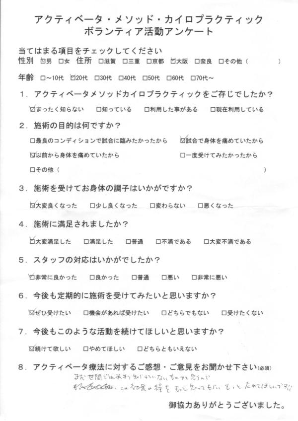 大阪府20代男性